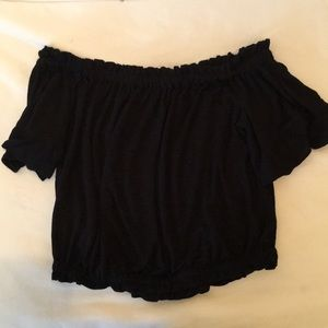Black off the shoulder top from LF